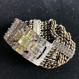 Art Deco Metal Stretch Bracelet